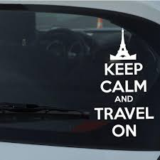 Keep Calm And Travel On Vinyl Wall Decal Car Sticker Walls2lifedecals