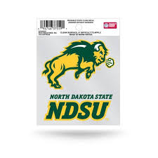 North Dakota State University Bison Logo Static Cling At Sticker Shoppe