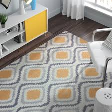 straley hand hooked yellow area rug