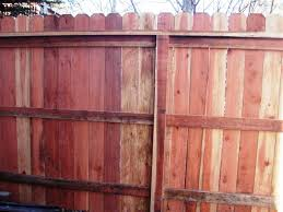 6ft Redwood 4 Rail Privacy Fence With Dog Ear Boards