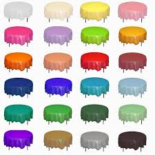 round plastic tablecloths table covers