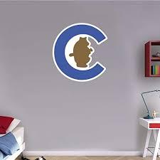 Amazon Com Skyhighprint Chicago Cubs Mlb Baseball Logo Sport Wall Decor Print Sticker 21 X 22 Kitchen Dining