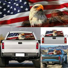Car Truck Rear Window Eagle American Flag Graphic Decal Tint Sticker 135cmx36cm Car Truck Graphics Decals Auto Parts And Vehicles Tamerindsa Com Ar