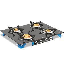 vim air glass top 4 burner gas stove
