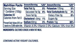 oikos nonfat greek yogurt nutrition