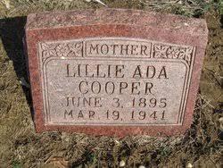 Lillie Ada Cooper Cooper (1896-1941) - Find A Grave Memorial