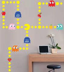 Pacman Wall Decal Pacman Wall Vinyl Wall Vinyl Decal Childrens Wall Decals Vinyl Wall Decals Vinyl Wall
