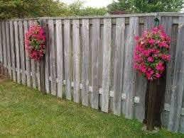Hanging Flower Pots For Fences Hanging Flower Pots Backyard Landscaping Designs Hanging Flower Wall