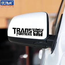 Buy Excellent Decorative Card Transformers Rearview Mirror Rearview Mirror Garland Modified Car Stickers Personalized Car Decoration Stickers Reflective Decals In Cheap Price On Alibaba Com