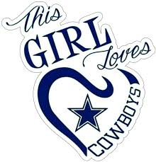 Amazon Com This Girl Loves Dallas Cowboy Stickers 4 Size Dallas Cowboy Decal Vinyl For Car Bamper Truck Laptop Tumblers Team Colors 7 Inch Kitchen Dining