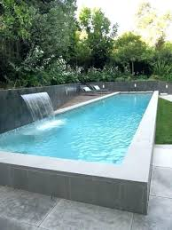 above ground concrete block pool