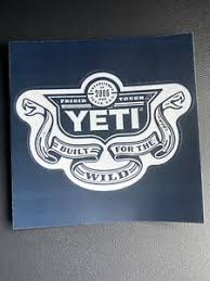 Yeti Sticker Decal New Authentic Built For The Wild W Snake Heads Ebay