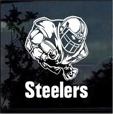 Pittsburgh Steelers Football Player Window Decal Sticker Custom Sticker Shop