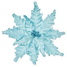 3 x large ice blue poinsettia flower