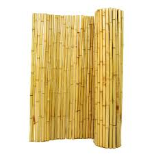Backyard X Scapes 6 Ft H X 8 Ft W X 1 In D Natural Rolled Bamboo Fence Panel Hdd Bf05 The Home Depot Bamboo Fence Rolled Fencing Bamboo Screening Fence