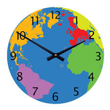 """Geography World Map 11"""" Children's/Toddlers' Wall Clock"""