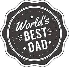 Amazon Com Simple Gray World S Best Dad Father S Day Cartoon Icon Badge Vinyl Decal Sticker 12 Wide Automotive