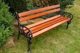garden chair cast iron park bench