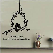 Tree Vines Birdcage Wall Art Mural Decal Sticker Wall Quote Decoration Poster Life Without Love Is Like A Tree Without Blossom And Fruit Wall Decorations Stickers Wall Decorative Decals From Magicforwall 2 06