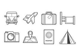 traveling icon free vector art 14