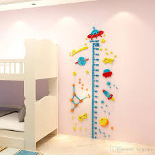 3d Ufo Rocket Height Measure Wall Sticker Baby Kids Rooms Growth Chart Nursery Room Decor Wall Art Decorating Nursery Walls Baby Boy Room Wall Decor From Lemonle 13 47 Dhgate Com