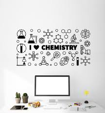 Vinyl Wall Decal Lettering I Love Chemistry Lab School Science Teen Ro Wallstickers4you