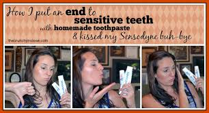 sensitive teeth with homemade toothpaste