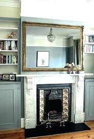 fireplace mantel with mirror mantle