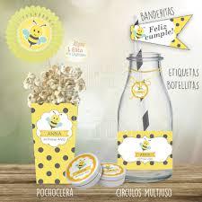 Kit Imprimible Abejita Decoracion Cumpleanos Infantiles