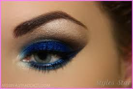 makeup ideas navy blue dress star
