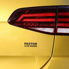 12 7cm 4cm Pastor On Board Jesus Christian Faith Bible Vinyl Sticker Car Decals Black Silver Gs3540 Car Stickers Aliexpress