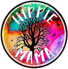 Amazon Com Mduhnd Car Sticker 12cm X 12cm Hippie Mama Car Decal Hippie Gifts For Women Hippie Bumper Window Vinyl Stickers Car Accessories Home Kitchen