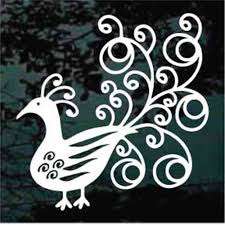 Peacock Car Decals Stickers Decal Junky