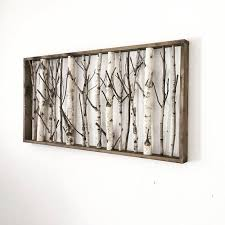 white birch forest wall art 48 x 24