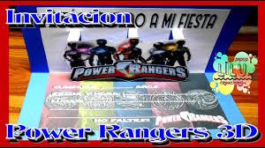 Como Hacer Una Invitacion De Power Rangers Youtube