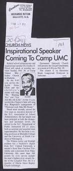 Inspirational Speaker Coming To Camp UMC