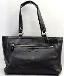 w black pebble leather tote