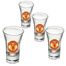 manchester united shot glass set