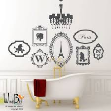Oh La La Girly Girl French Theme Decal Set Wall Decal Chandelier Frames French Theme Girls Wall Decals Wall Decor Decals