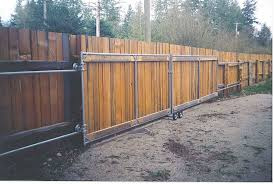 Maybe Use Training Wheels As Rollers Splitcedarproducts Sturdy Sliding Gate Wood Fence Gates Fence Gate Driveway Gate Diy