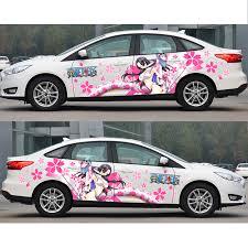 Big Promo Japanese Car Decals Itasha One Piece Boa Hancock Stickers Anime Camouflage Sticker Auto Door Drift Racing Decal