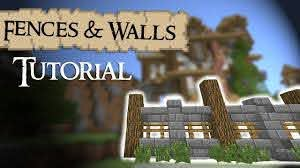 Minecraft Tutorial Medieval Fences And Walls Youtube