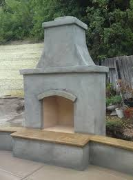 prefab outdoor fireplace kits prefab