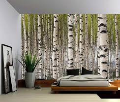 Birch Tree Forest Large Wall Mural Self Adhesive Vinyl Etsy Large Wall Murals Wall Murals Fabric Wall Decals
