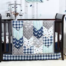 baby boy crib bedding navy blue gray