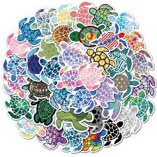 41pcs Vsco Sea Turtle Stickers Girl Cool Laptop Anime Cartoon Stickers Pack For Skateboard Car Decal Christmas Kids Toys Waterproof Sticker Wish