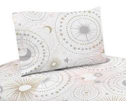 white star and moon twin sheet set
