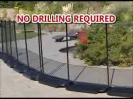 No Holes Pool Fence No Drilling In The Ground Pool Safety Fence Pool Fence Portable Pools