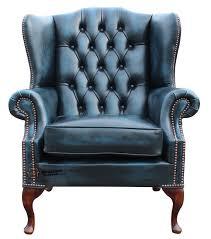 queen anne high back fireside chair