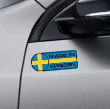 Made In Sweden Car Sticker Set Vinyl Decal Swedish Flag Sticker Self Adhesive Car Decal For Saab V Vinyl Bumper Stickers
